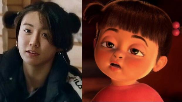 Jungkook (BTS) lại đáng yêu quá đáng khi cột tóc rồi tự nhận giống... cô bé hoạt hình Pucca - Ảnh 6.