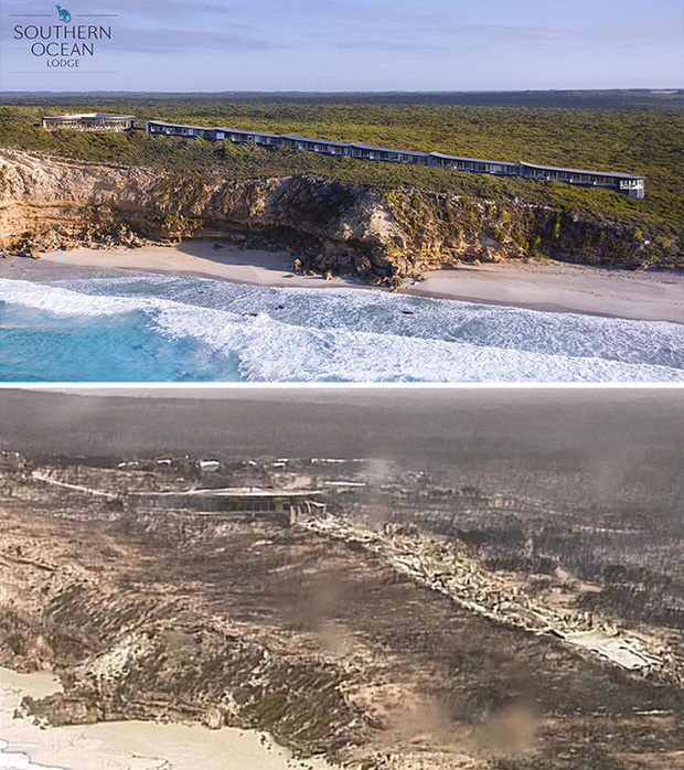Chùm ảnh đau lòng: Nước Úc trước và sau khi ngọn lửa hung tàn quét qua - Ảnh 3.