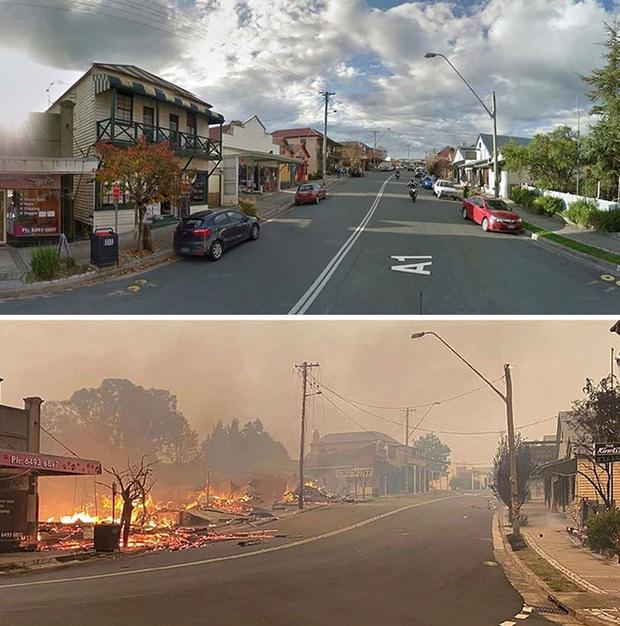 Chùm ảnh đau lòng: Nước Úc trước và sau khi ngọn lửa hung tàn quét qua - Ảnh 7.