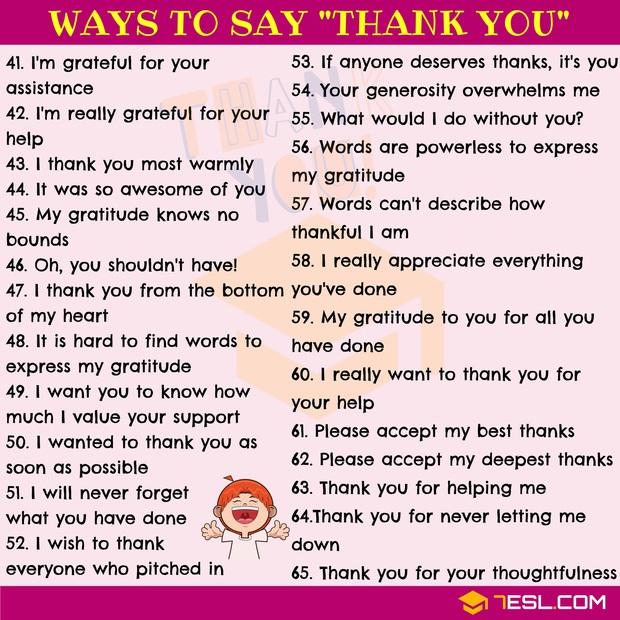"""Muốn cảm ơn ai đó hạn chế dùng """"Thank You"""" vì Tiếng Anh còn có 65 cách nói khác tuyệt vời hơn đấy! - Ảnh 3."""