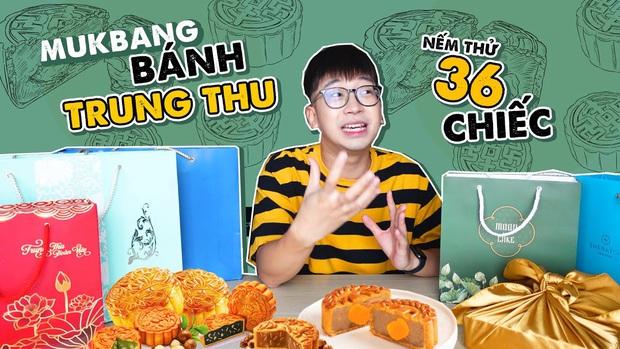 Có 1 vlogger mukbang tới 36 chiếc bánh Trung thu cùng lúc, Giang ơi và Dino Vũ cũng chưa vượt qua nổi con số này - Ảnh 3.