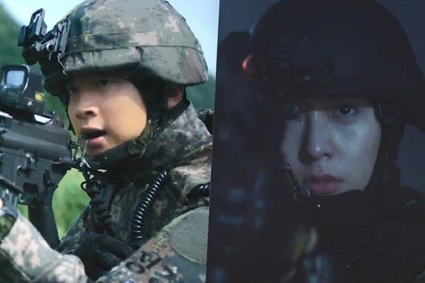 Trang bị full mũ giáp, Krystal và Jang Dong Yoon vẫn sợ tái mặt khi đối đầu quái vật ở teaser Search - Ảnh 2.