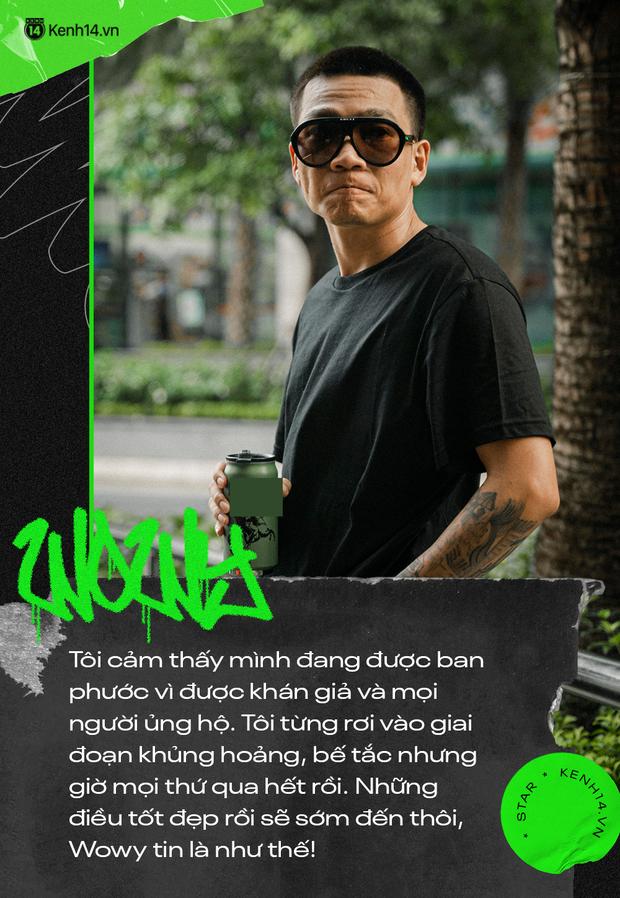 Wowy kể chuyện cưới hụt bạn gái, ẩu đả với Rhymastic và cột mốc Rap Việt: Tôi cảm giác như đang đánh lại cái bóng của chính mình - Ảnh 4.