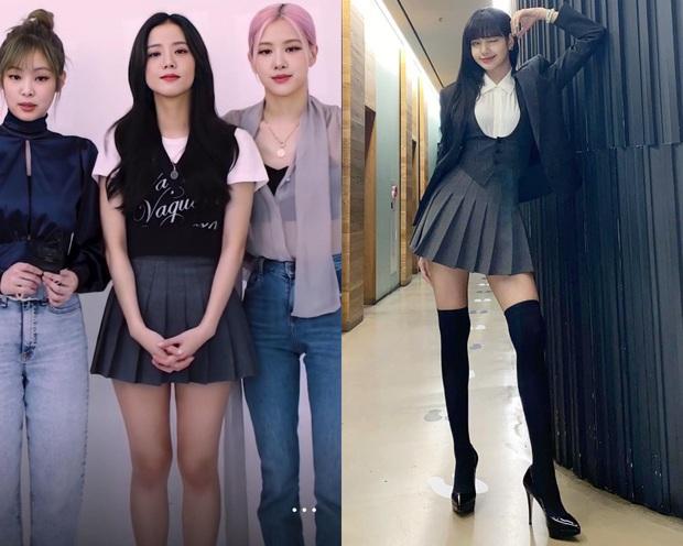 Nghi án Lisa diện lại váy của Jisoo: Đôi chân dài như chỉnh ảnh quá đà khiến dân tình choáng nặng  - Ảnh 6.