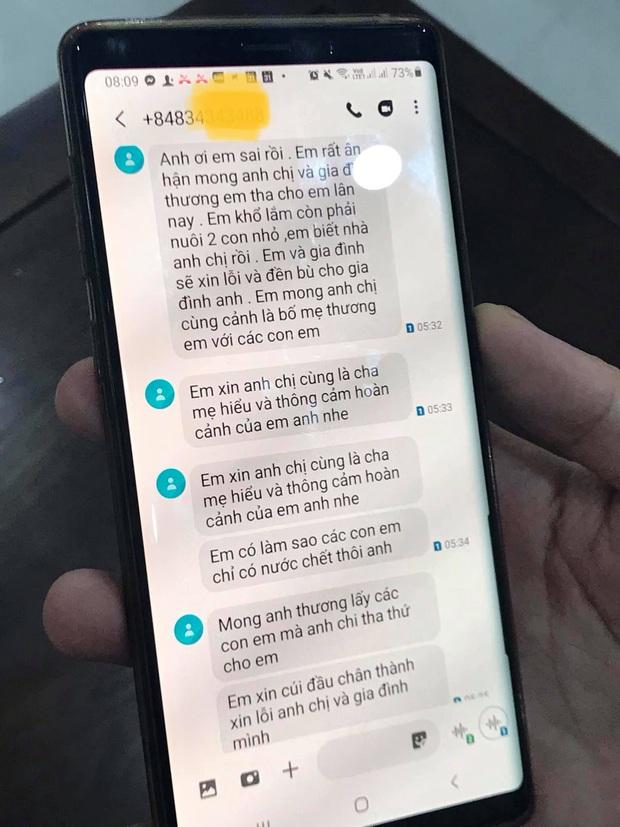 Hé lộ tin nhắn xin lỗi của người đàn ông đánh cháu bé tại trường mầm non: Mong gia đình thương em, tha cho em lần này - Ảnh 2.