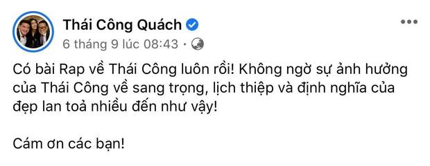 HIEUTHUHAI đưa NTK Quách Thái Công vào bài rap khiến chính chủ thích thú đến mức mời quay hẳn Vlog - Ảnh 2.