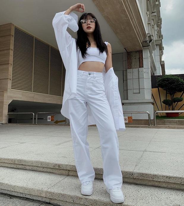 Tậu quần jeans trắng là có style sang xịn trendy, phối đồ đơn giản cỡ nào trông cũng hay ho - Ảnh 7.