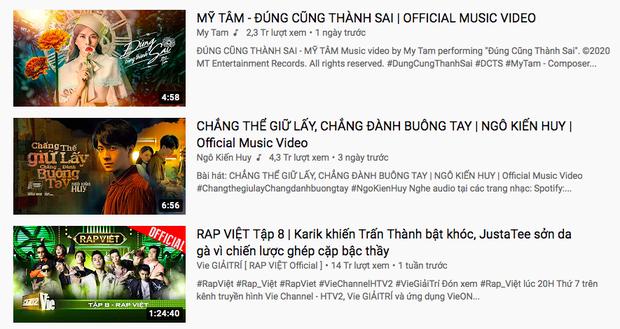 Cô trò Mỹ Tâm - Đức Phúc hội ngộ trên top trending YouTube nhưng vẫn không thể vượt qua nổi Rap Việt và Jack - Ảnh 6.