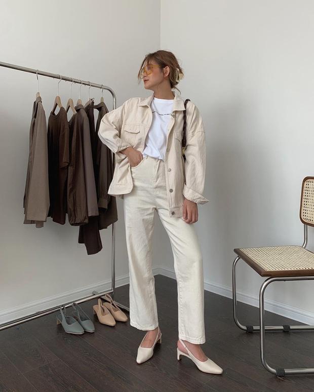Tậu quần jeans trắng là có style sang xịn trendy, phối đồ đơn giản cỡ nào trông cũng hay ho - Ảnh 13.