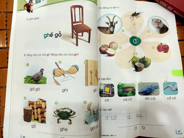 Sách giáo khoa Tiếng Việt lớp 1 mới: Đang trang 32 lại đến... trang 17 - Ảnh 1.