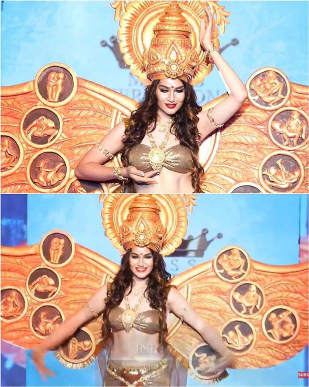 Trang phục dân tộc gây tranh cãi nhất lịch sử các cuộc thi: Sốc nhất là bầu ngực giả lộ thiên của Miss Universe Thailand 2020 - Ảnh 9.
