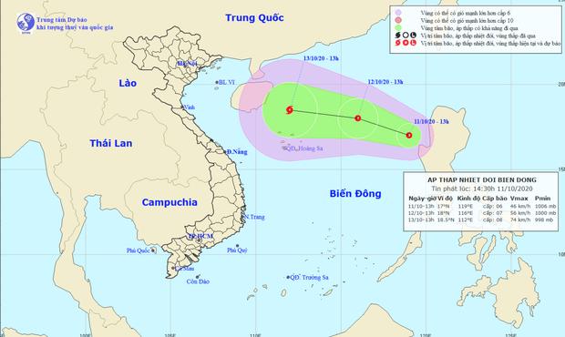 Bão số 6 vừa suy yếu đã tiếp tục xuất hiện áp thấp nhiệt đới mới trên biển Đông - Ảnh 1.