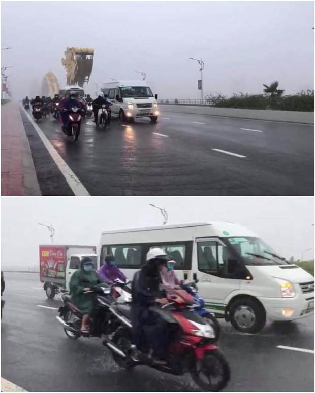 Clip: Hàng loạt ô tô đi chậm trên cầu để chắn gió to cho xe máy, hành động đẹp giữa cơn bão khiến nhiều người ấm lòng - Ảnh 4.