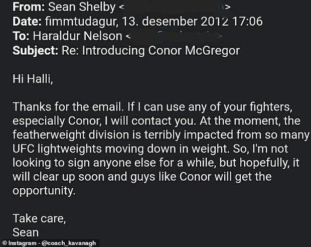 Chuyện giờ mới kể: McGregor từng bị UFC từ chối ký hợp đồng vào năm 2012 và hành trình chứng minh bản thân sau đó - Ảnh 1.