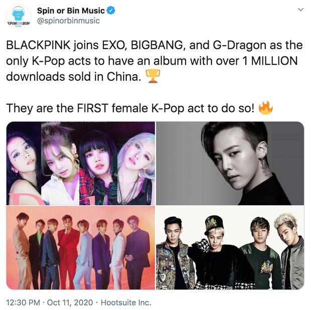 BLACKPINK lại âm thầm lập thêm kỷ lục, sánh bước BTS ở trời Tây và cả EXO, BIGBANG ở thị trường tỷ dân - Ảnh 4.