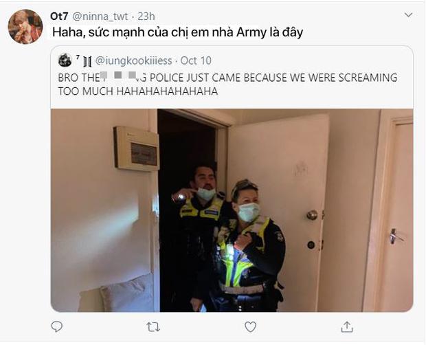 Hò hét quá to khi xem concert của BTS, gia chủ bị cảnh sát ập vào nhà vì tưởng có án mạng - Ảnh 3.