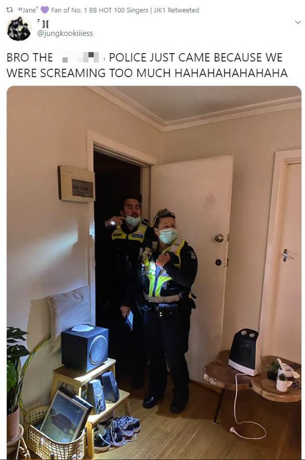 Hò hét quá to khi xem concert của BTS, gia chủ bị cảnh sát ập vào nhà vì tưởng có án mạng - Ảnh 1.