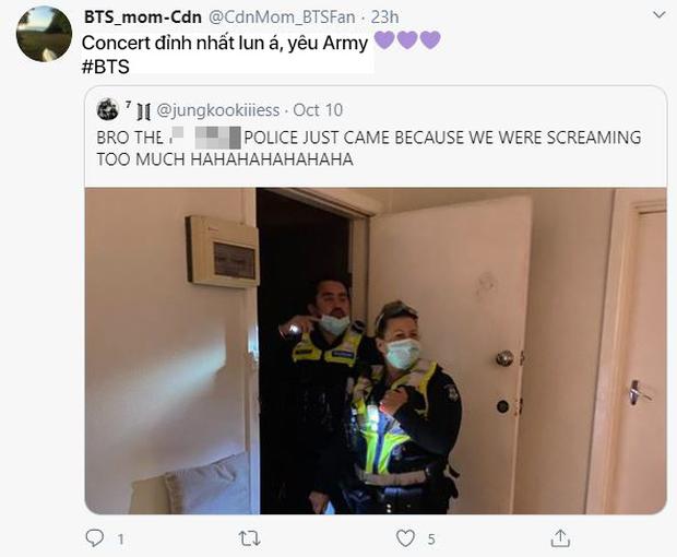 Hò hét quá to khi xem concert của BTS, gia chủ bị cảnh sát ập vào nhà vì tưởng có án mạng - Ảnh 4.