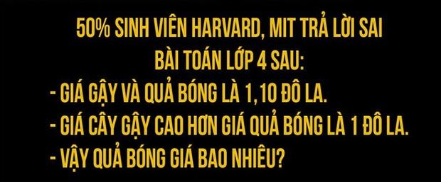 Bài Toán khiến 50% sinh viên Harvard trả lời sai: Giá gậy và bóng là 1,1 USD. Giá gậy cao hơn bóng 1 USD. Hỏi giá bóng?, hóa ra lại dễ bất ngờ - Ảnh 1.