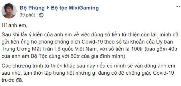 Những hot streamer Việt nhiệt tình làm từ thiện, cộng đồng cho luôn 10 điểm nhân phẩm! - Ảnh 2.