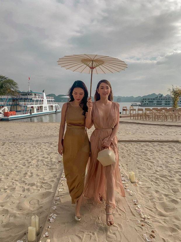 2 lần Minh Hằng khoe vòng 1 dự đám cưới: Bộ tại lễ cưới Đông Nhi nhìn nền nã hóa ra cũng có khoảnh khắc hú hồn - Ảnh 1.