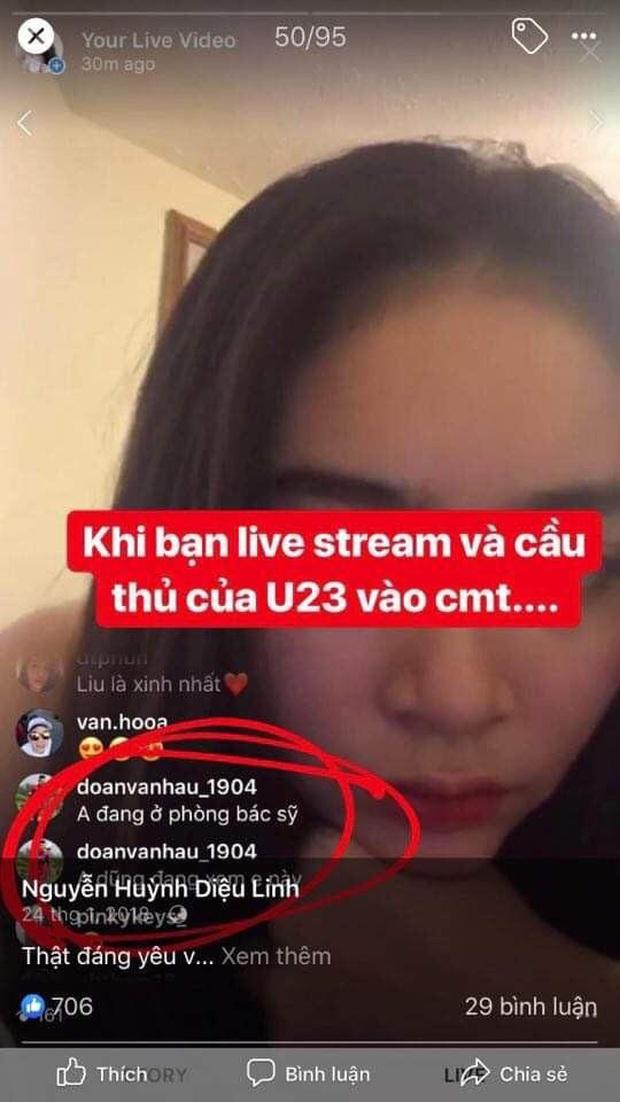 Hoá ra trước Doãn Hải My, Văn Hậu từng thả thính bóng hồng khác trong HHVN 2020 công khai trên livestream - Ảnh 2.