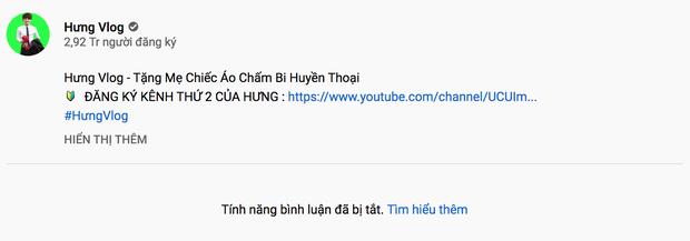 Tưởng tạm dừng hoạt động nhưng Hưng Vlog vẫn đăng clip cà khịa mẹ và còn tắt cả tính năng bình luận? - Ảnh 2.