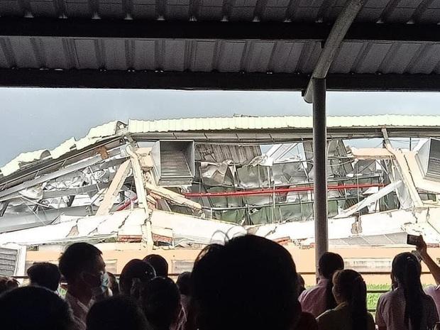 Tiền Giang: Lốc xoáy kinh hoàng khiến nhà xưởng gần 10.000m2 đổ sập - Ảnh 3.