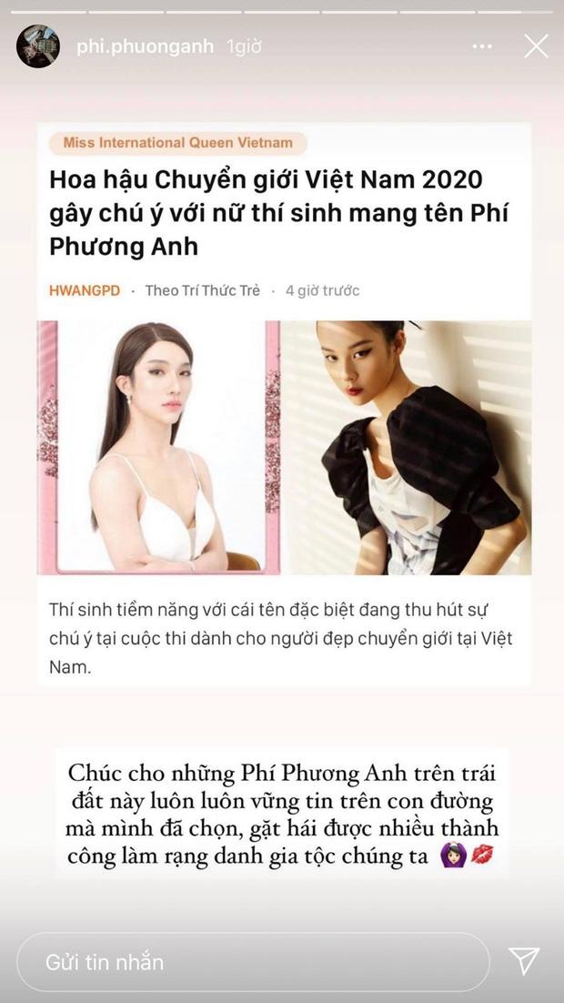 Phí Phương Anh chúc thí sinh Hoa hậu Chuyển giới cùng tên sớm làm rạng danh gia tộc - Ảnh 3.