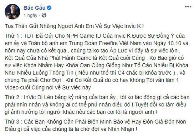 Drama làng Free Fire: Bác Gấu bóng gió streamer người yêu Hạ Mi dùng hack, viết tâm thư tuyênbố Vàng thật không sợ lửa - Ảnh 2.