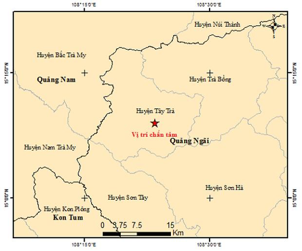 Liên tiếp xảy ra 2 trận động đất tại Quảng Ngãi trong sáng nay - Ảnh 1.