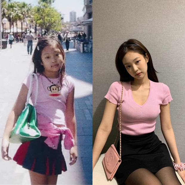 Jennie (BLACKPINK) gây sốt với loạt ảnh ấu thơ: Ra dáng Fashionista từ bé, còn diện áo có chữ hao hao Đà Nẵng - Ảnh 5.