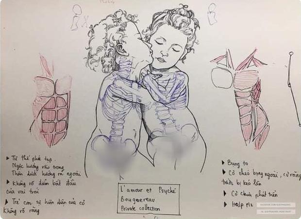 Vẽ chơi chơi vài nét bút bi, nữ sinh khiến dân tình tròn mắt thán phục tranh vẽ tay nhưng y hệt Sách giáo khoa - Ảnh 1.