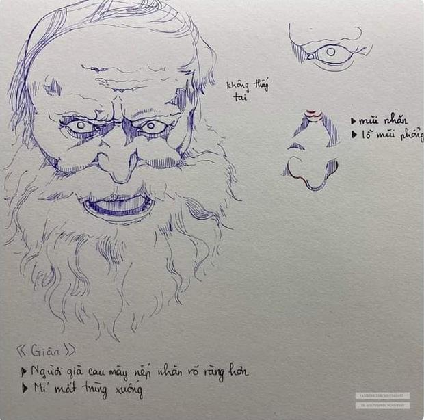 Vẽ chơi chơi vài nét bút bi, nữ sinh khiến dân tình tròn mắt thán phục tranh vẽ tay nhưng y hệt Sách giáo khoa - Ảnh 3.