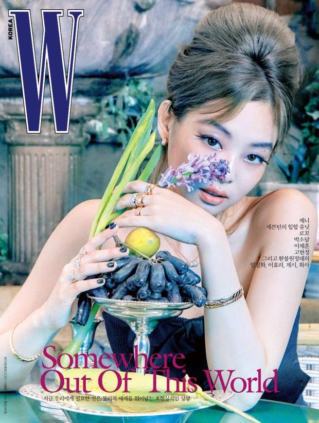 Ảnh tạp chí mới của Jennie (BLACKPINK) gây choáng toàn tập: Tóc Dương Quá hóa quý tộc sang chảnh, nhưng lông mày sao thế này? - Ảnh 4.