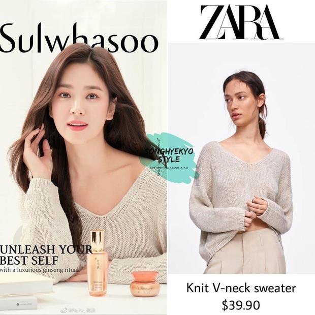 Song Hye Kyo diện áo len Zara mà sang nức nở, sắm về 1 em tương tự là bạn có style Thu chuẩn đẹp - Ảnh 2.