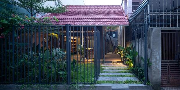 Bước vào ngôi nhà trong ngõ rộng 3m được phủ xanh bằng cây cối, ai cũng thích thú với chiếc cầu thang cực hợp sống ảo - Ảnh 1.