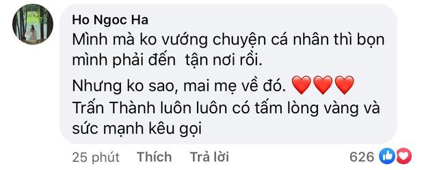 Trấn Thành thông báo không thể vào miền Trung, chuyển tiền nhờ các nghệ sĩ Việt giúp cứu trợ, Hà Hồ liền có bình luận gây chú ý - Ảnh 6.