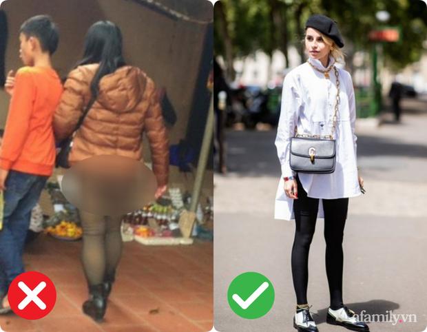 Trời lạnh là dân tình lại nhức nhối với kiểu ăn mặc của một vài chị em: Diện legging hớ hênh khiến người nhìn ngán ngẩm - Ảnh 1.
