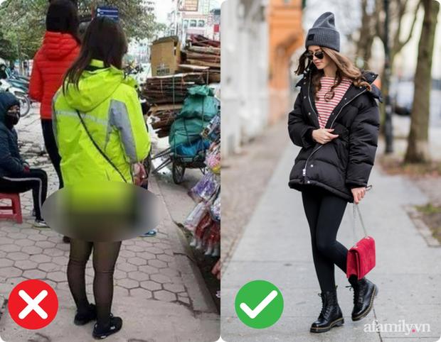 Trời lạnh là dân tình lại nhức nhối với kiểu ăn mặc của một vài chị em: Diện legging hớ hênh khiến người nhìn ngán ngẩm - Ảnh 2.