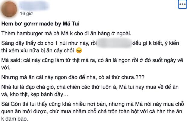 Chiếc hamburger tân cổ giao duyên kẹp giò chả mẹ làm gây bão Facebook, netizen hỏi nhau không biết vị nó như nào? - Ảnh 2.