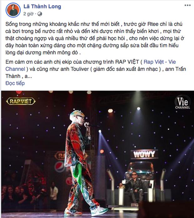 R.Tee viết tâm thư sau khi bị loại khiến Binz thả tim lia lịa, Ricky Star gửi lời tái đấu và còn được đạo diễn trăm triệu view rủ làm MV - Ảnh 3.