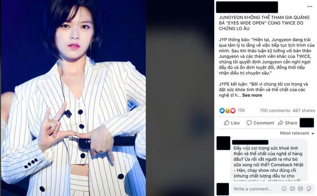 Từ fan Việt đến netizen Hàn đồng loạt chỉ trích JYP sau thông báo Jeongyeon không thể quảng bá cùng TWICE  - Ảnh 9.