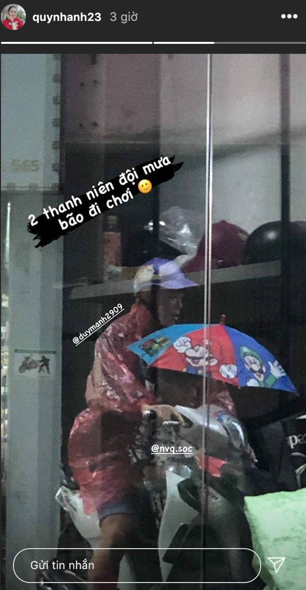 Quỳnh Anh kể bé Ú bị nhận nhầm là con gái khi đi tiêm phòng, tố Duy Mạnh đội mưa bão đi chơi - Ảnh 2.