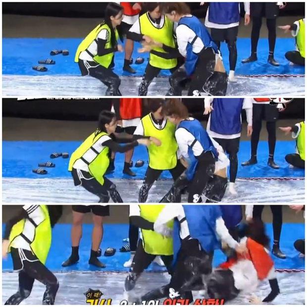 Những lần Jeon So Min chiếm sóng, bạo lực với loạt khách mời: Từ nắm tóc nữ idol kéo lê xềnh xệch đến đạp mạnh BLACKPINK - Ảnh 4.