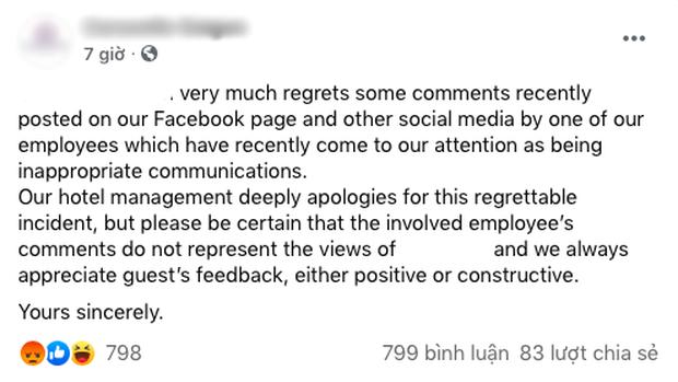 """Vụ nhân viên khách sạn mỉa mai khách: Ban quản lý dùng… Google dịch để phản hồi, lời xin lỗi """"giả trân"""" gây bức bối? - Ảnh 3."""