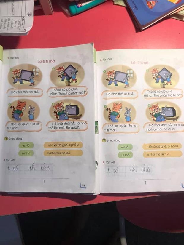 Phụ huynh lại hoang mang với sách Tiếng Việt 1 Cánh Diều: Cùng bộ sách nhưng mỗi cuốn lại in một nội dung khác nhau? - Ảnh 1.