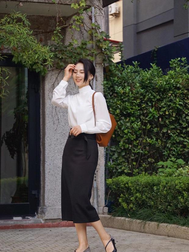 Street style châu Á: Hội chị em lên đồ đẹp hút mắt, toàn blazer và cardigan nhưng nhìn sang hết nấc - Ảnh 3.