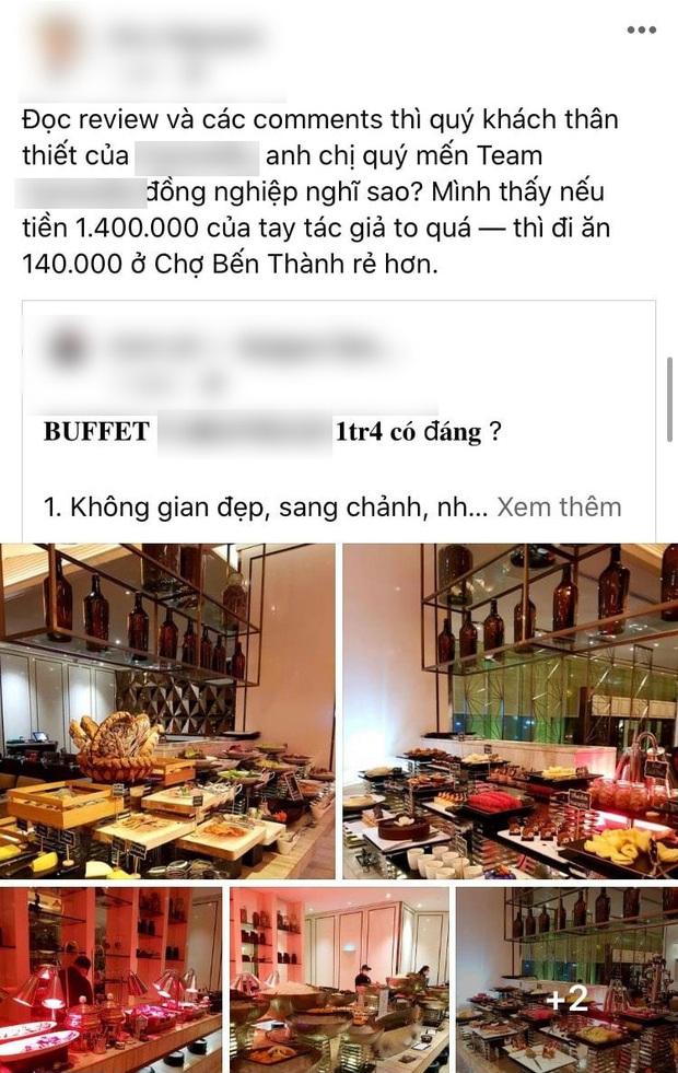 """SỐC: Khách review buffet không ưng ý, nhân viên khách sạn 5 sao ở Sài Gòn mỉa mai """"1tr4 to quá, ăn 140k ở chợ Bến Thành còn hơn đó"""" - Ảnh 3."""
