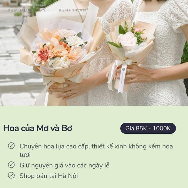 20/10 mua hoa ở đâu: 8 shop hoa siêu đẹp, bó hoa siêu có tâm ở Hà Nội và Sài Gòn chắc nhiều người sẽ cần - Ảnh 13.